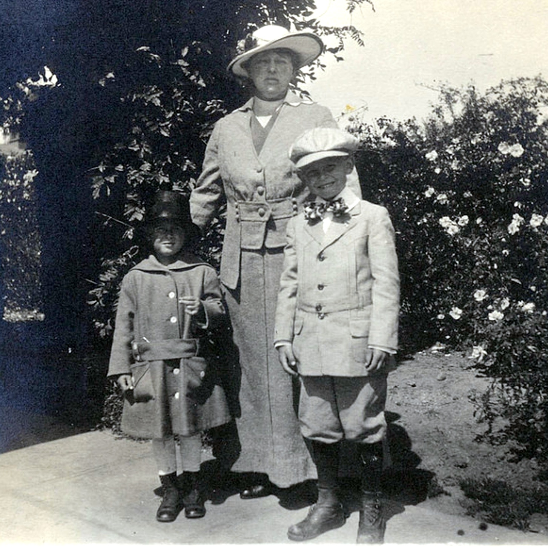 1918 believed 2B Emma Speik with grandkids Fred Jr and Madeleine